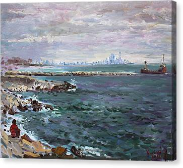 By Lakeshore Mississauga Canvas Print by Ylli Haruni