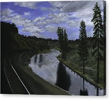 By Rail Canvas Print