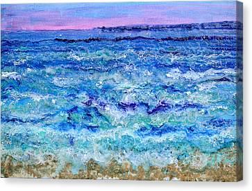 By The Beautiful Sea Canvas Print by Regina Valluzzi