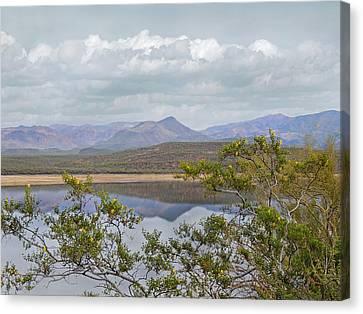 Verde River Canvas Print - By The Lake by Gordon Beck