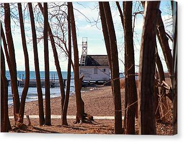 Canvas Print featuring the photograph By The Lake by Valentino Visentini