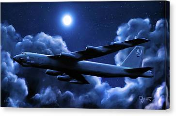 By The Light Of The Blue Moon Canvas Print