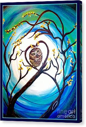 By The Light Of The Moon I Will Find You Canvas Print by Kimberlee Baxter