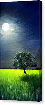Canvas Print featuring the painting By The Light Of The Moon by James Shepherd
