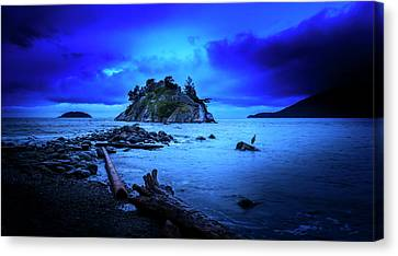 Canvas Print featuring the photograph By The Light Of The Moon by John Poon