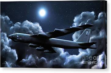 Canvas Print featuring the painting By The Light Of The Silvery Moon by Dave Luebbert
