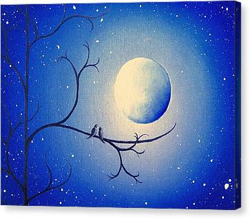 By The Night Canvas Print by Rachel Bingaman