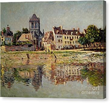 Riviere Canvas Print - By The River At Vernon by Claude Monet