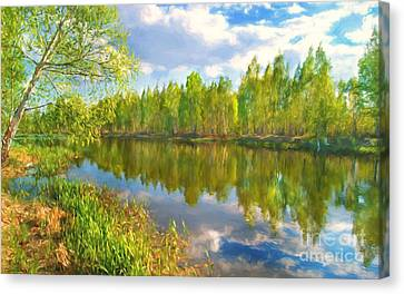 By The River Canvas Print by Veikko Suikkanen