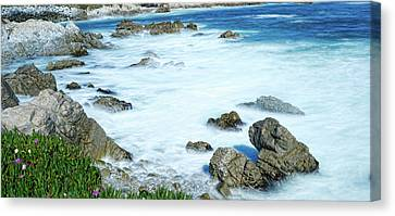 Monteray Bay Canvas Print - By The Sad Sea Waves by Dennis Bolton