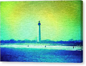 By The Sea - Cape May Lighthouse Canvas Print by Bill Cannon