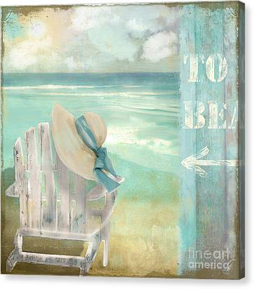 By The Sea Canvas Print by Mindy Sommers