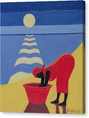 By The Sea Shore Canvas Print by Tilly Willis
