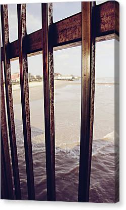 Canvas Print featuring the photograph By The Sea by Trish Mistric