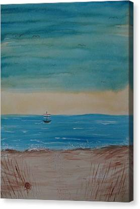 By The Seaside, By The Beautiful Sea Canvas Print