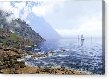 By The Seaside Canvas Print by Diana Voyajolu