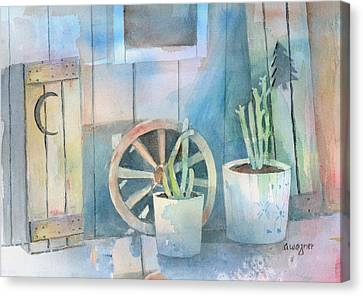 By The Side Of The Shed Canvas Print by Arline Wagner