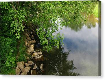 Canvas Print featuring the photograph By The Still Waters by Tikvah's Hope