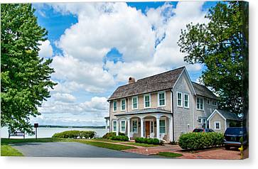 Canvas Print featuring the photograph By The Water In Oxford Md by Charles Kraus
