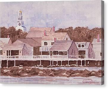 By The Wharf Canvas Print