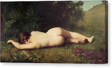 Byblis Turning Into A Spring Canvas Print by Jean Jacques Henner