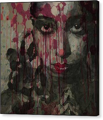Showgirl Canvas Print - Bye Bye Blackbird by Paul Lovering