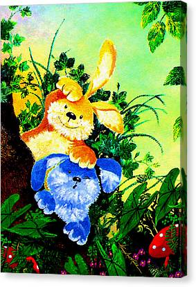 Bye Bye Bunnies Canvas Print