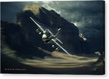 Bye Bye Prowler Canvas Print by Peter Van Stigt