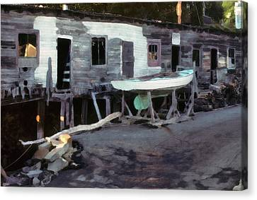 Bygone Boatyard Canvas Print