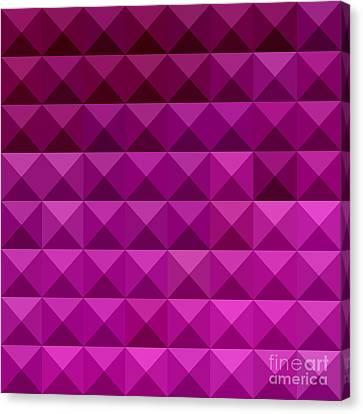 Byzantine Purple Abstract Low Polygon Background Canvas Print by Aloysius Patrimonio