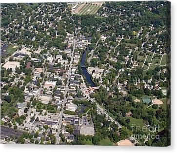 Canvas Print featuring the photograph C-011 Cedarburg Wisconsin by Bill Lang
