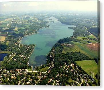 Canvas Print featuring the photograph C-014 Cedar Lake Big Wisconsin by Bill Lang