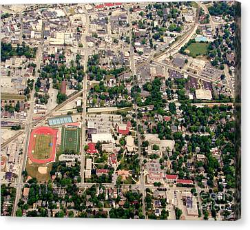 Canvas Print featuring the photograph C-017 Carroll University Waukesha Wisconsin by Bill Lang