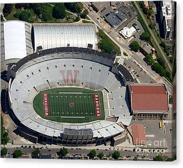 Canvas Print featuring the photograph C-019 Camp Randall Stadium by Bill Lang