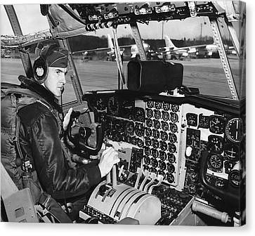 C-130 Cockpit Canvas Print by Underwood Archives