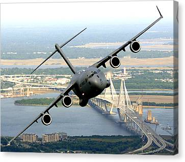 C-17 Charleston Canvas Print by Aviation Heritage