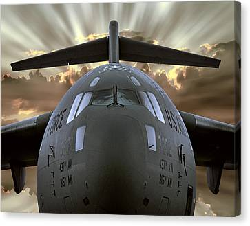 C-17 Globemaster Military Transport Aircraft Canvas Print by Daniel Hagerman