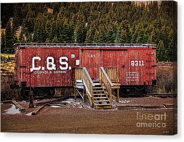 Cost Line Canvas Print - C And S Railroad by Jon Burch Photography