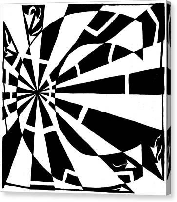 C-maze Canvas Print by Yonatan Frimer Maze Artist