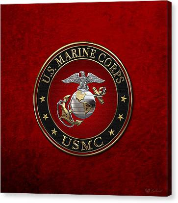 C O And Warrant Officer E G A Special Edition Over Red Velvet Canvas Print