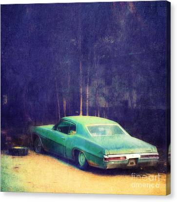 The Old Car Canvas Print by Priska Wettstein