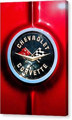 C2 Corvette Logo Canvas Print by Scott Wyatt
