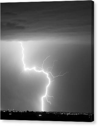 C2g Lightning Strike In Black And White Canvas Print by James BO  Insogna
