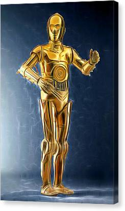 C3po Good In Gold Canvas Print