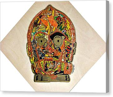 Canvas Print featuring the tapestry - textile C3po Star Wars Afrofuturist Collection by Apanaki Temitayo M