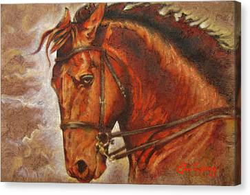 Caballo I Canvas Print by J- J- Espinoza