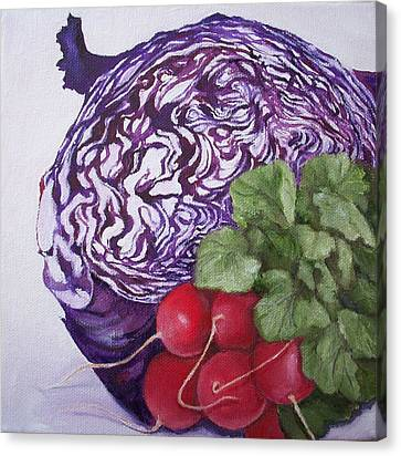 Cabbage Maze Canvas Print by Irene Corey