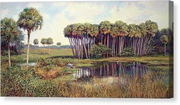 Cabbage Palm Hammock Canvas Print by Laurie Hein