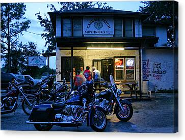 Cabbage Canvas Print - Cabbage Patch Bikers Bar by Kristin Elmquist