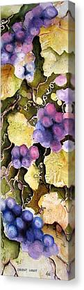 Canvas Print featuring the painting Cabernet Harvest 2 by Marti Green